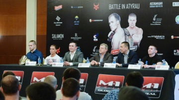 M-1 Challenge Battle in Atyrau press-conference, December 14, Atyrau, Kazakhstan