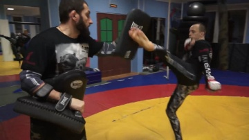 Mikhail Kuznetsov's training before M-1 Challenge 74, February 18