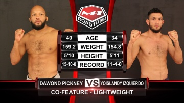 Dawond Pickney vs Yoislandy Izquierdo, Road to M-1: USA - 1