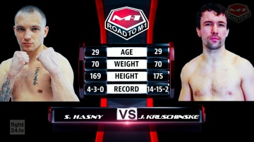 Sylwester Hasny vs Jonny Kruschinske, Road to M-1: Germany