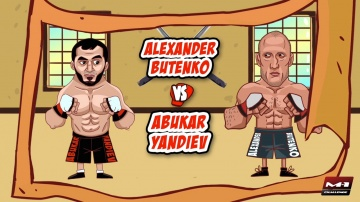 Alexander Butenko vs Abukar Yandiev, animated promo for M-1 Challenge 74