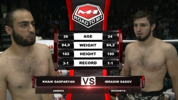 Khaik Gasparyan vs Ibragim Sagov, Road to M-1