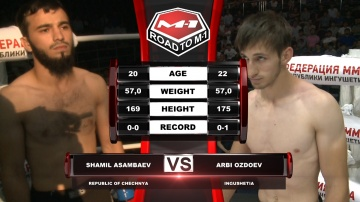 Shamil Asambaev vs Arbi Ozdoev, Road to M-1