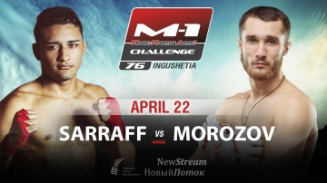 Fabricio Sarraff will face Sergey Morozov on M-1 Challenge 76, April 22