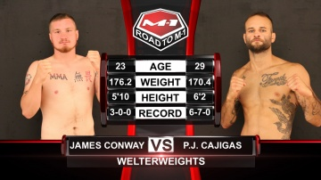 James Conway vs PJ Cajigas, Road to M-1: USA - 1