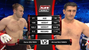 Akhmed Sultanov vs Denis Goltsov, M-1 Global - Fedor vs. Rizzo