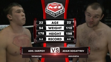 Adel Zaripov vs Adam Bogatyrev, Road to M-1