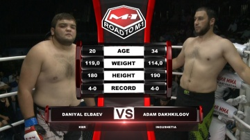 Daniyal Elbaev vs Adam Dakhkilgiev, Road to M-1