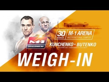 M-1 Challenge 90: Weigh-in, March 29, Saint-Petersburg, Russia