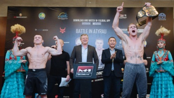 M-1 Challenge Battle in Atyrau Weigh-in, December 14, Kazakhstan
