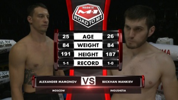 Alexander Mamonov vs Beckhan Mankiev, Road to M-1