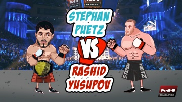 Rashid Yusupov vs Stephan Puetz, animated promo for M-1 Challenge 74